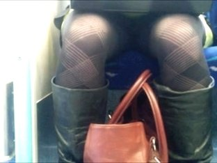 Upskirk patterned tights