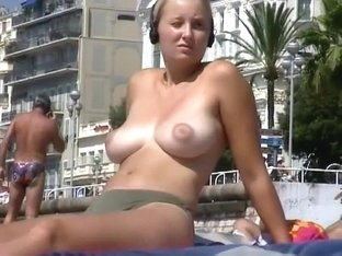 Sweet blonde girl with big natural tits