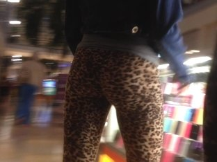 Tiny Teen Perfection Leopard Tights Candid