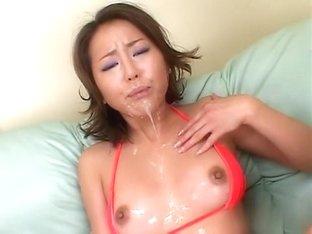 Best Japanese model in Crazy JAV uncensored Bukkake video
