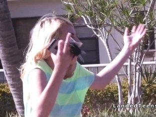 Wracked car teen bangs strangers dick