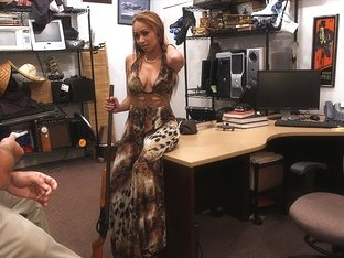 Brunette and sexy bitch sells her weapon gets fucked by Shawn