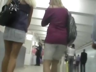 Blonde nice legs and nice butt