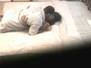 Amateur ebony couple captured on a spy cam having sex