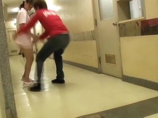 Two men played the sharking trick over pretty nurse