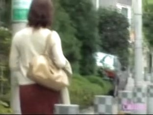 Hot Asian milf unexpectedly skirt sharked in public