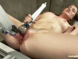 Crazy fetish xxx scene with best pornstar Sofia Lauryn from Fuckingmachines