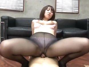 Crazy Japanese whore Nozomi Hara in Exotic Stockings/Pansuto, Fingering JAV clip