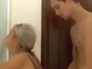 Bewitching mother I'd like to fuck Drilled in Washroom