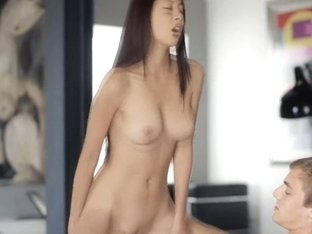 Hot sexy stunning girl likes being banged hard on top