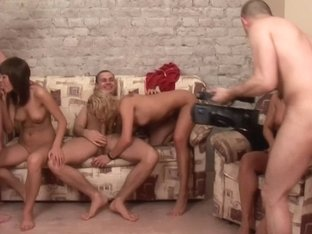 Evi C & Luna & Lydia R in student group sex scene with beautiful chicks