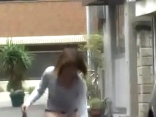 Tight exotic girl loses her skirt when some bloke steals it