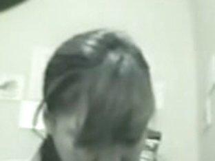 Girl peeing on cam is getting voyeured in the toilet
