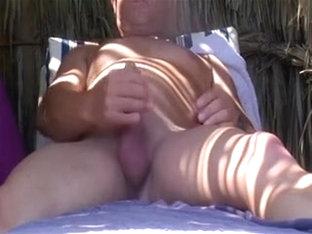 Exposed Beach - Large Boob Pierced Dark Brown - Pt 02