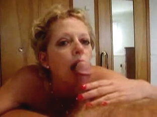 Blonde playing with cock