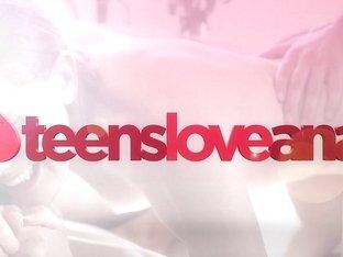 TeensLoveAnal - Tiny Brunette Fucked By Neighbor