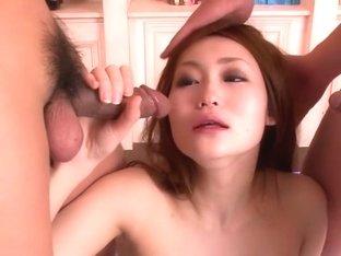 Exotic Japanese chick Yayoi Orikasa in Horny JAV uncensored Blowjob clip