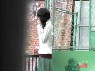 Slim innocent cutie loses her green skirt after some stranger snatches it