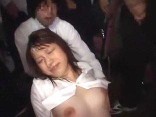 Hottest Japanese girl in Horny Facial, Public JAV video
