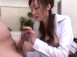 Amazing Japanese chick Yui Igawa in Incredible Office JAV clip