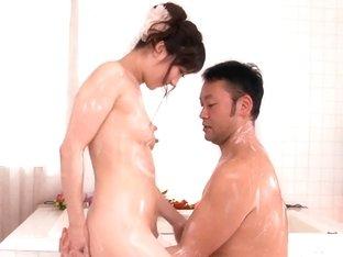 Shizuku Gives A Full Service Bath