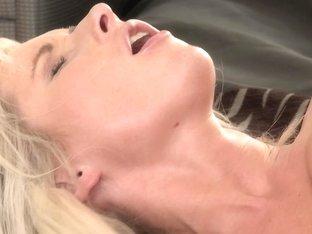 Mom xxx: Blonde MILF makes love to her man