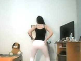Argentinian sexy girl dancing at home