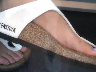 Candid feet on train 26
