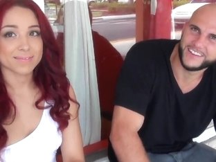 Jmac opens his door for this cute chick and fucks her