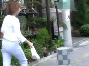 Cute Asian chick got street sharked after shopping.