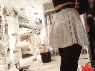 Sexy girl in super mini petticoat and black tights