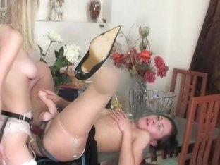 LickNylons Clip: Mima and Paulina A