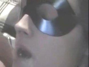 Nice blowjob under the kinky mask