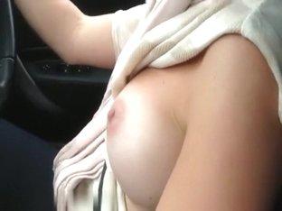 Flashing boobs while driving