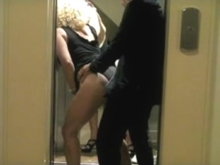 Fucking my gf hard in the elevator