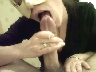 Dressed And Masked BJ By Hot Wife
