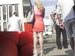 Palatable upskirt wazoo in a red glow