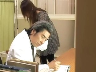 Lovely hairy Japanese broad gets fucked by her gynecologist
