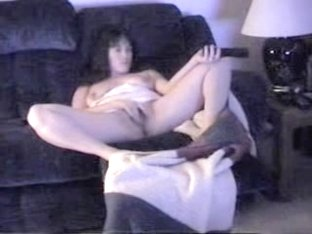 Hidden Asian wife wild masturbation session