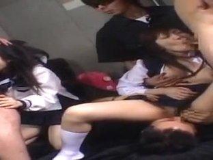 Incredible Japanese slut Hina Otsuka, Ruri Housyou in Fabulous Girlfriend, Gangbang JAV video