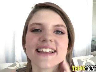 Cute teen Scarlett Fever enjoys getting fucked by huge cock