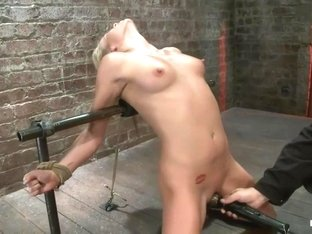 Tiny Southern Belle pushed to her limits, back arched, made to cum hardCruelest crotch rope ever