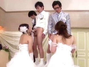 Hottest Japanese model Ririka Misuzu, Ruka Ichinose, Azusa Maki in Best Group Sex, Blowjob/Fera JA.