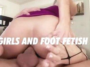 Fishnet Footjob