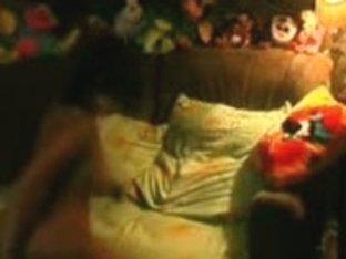 Hidden cam caught how innocent babe used a dildo for masturbation