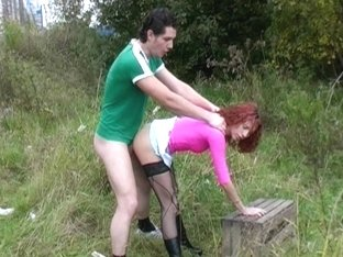 Redhead in anal pick up sex video
