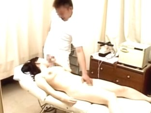 Busty Japanese babe gets banged in voyeur massage video