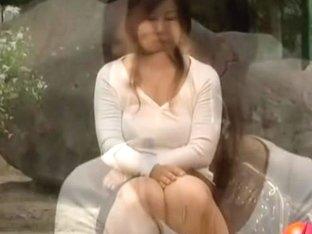 Japanese sharking video displaying cute white panties
