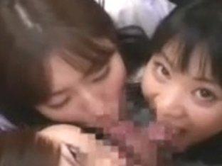 Japanese schoolgirls bus driver