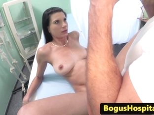Bogus european doc bentover screwing patient
